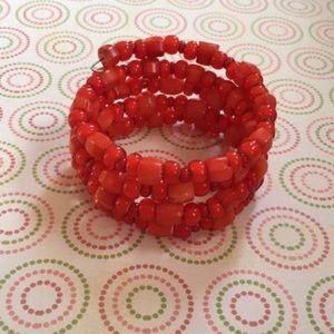 🌸3for$15 Handmade Red Beaded Wrap Bracelet